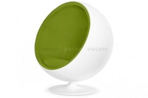 fauteuil ballon vert
