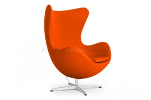 fauteuil oeuf jacobsen original orange