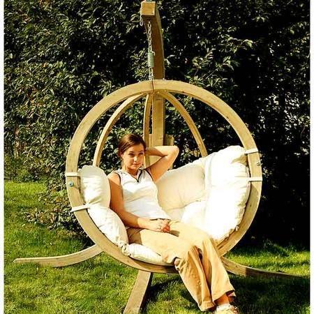 fauteuil oeuf de jardin